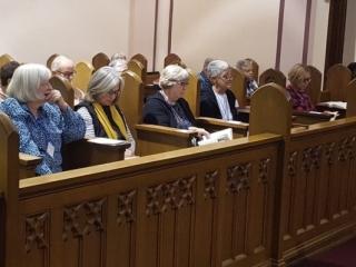 Oblates in chapel
