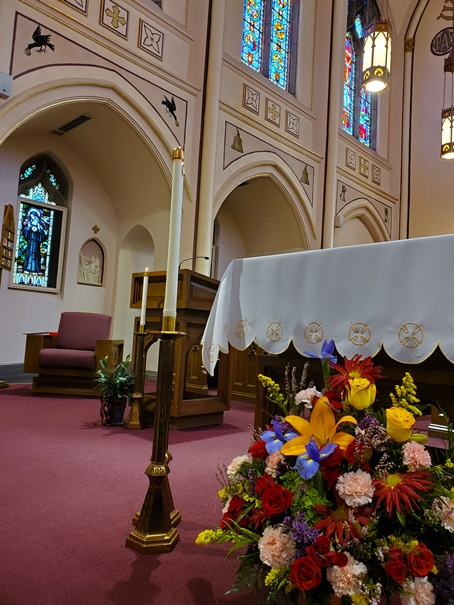 The chapel was beautifully adorned for the celebration