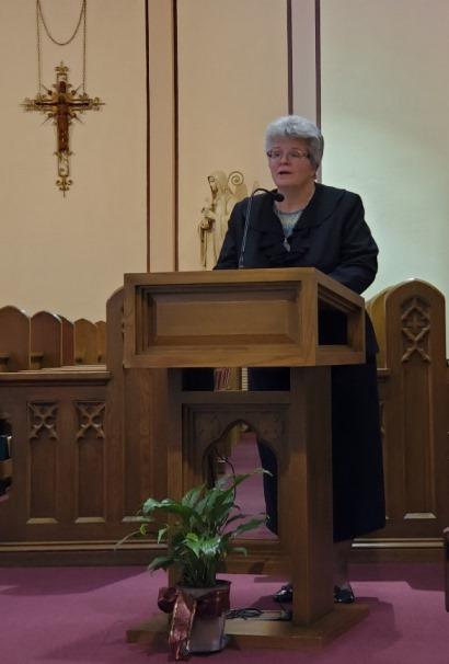 Sr. Lynn Marie sings the Alleluia