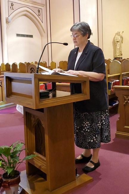 Sr. Karen Ann offers the Prayer of the Faithful