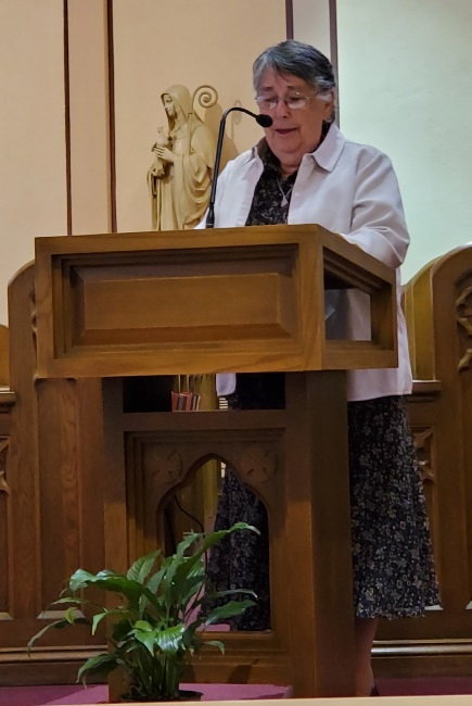 Sister Veronica offered a reflection at the conclusion of Mass