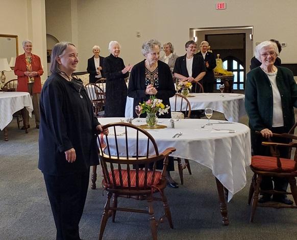 A festive dinner followed Mass