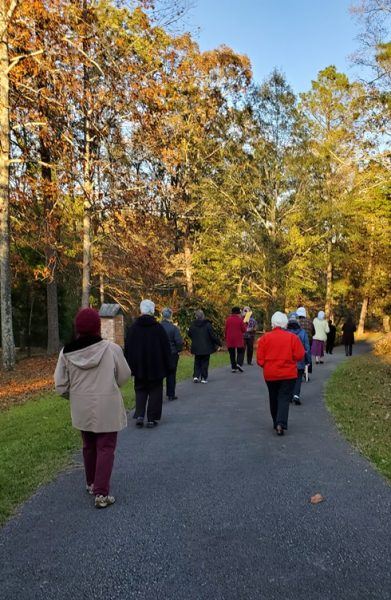 Procession to cemetery