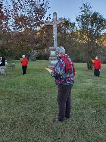Social distancing at the cemetery