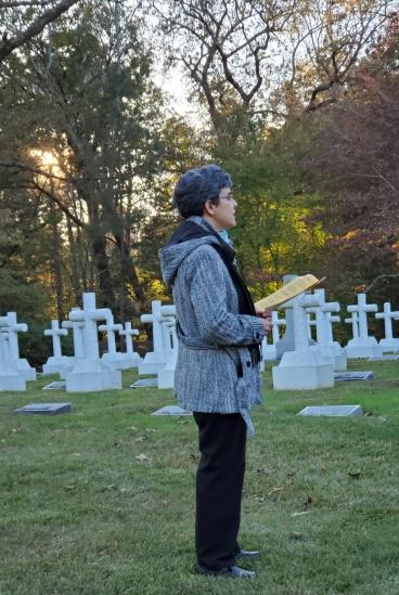 Sister Tonette led the prayers