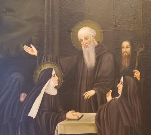 Painting of St.s Scholastica and Benedict