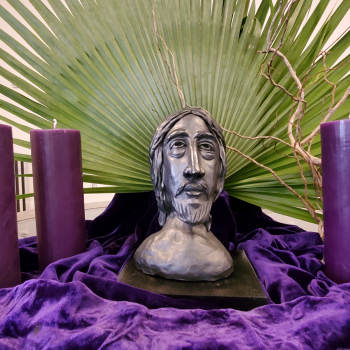 Holy Week environment in Dining Room