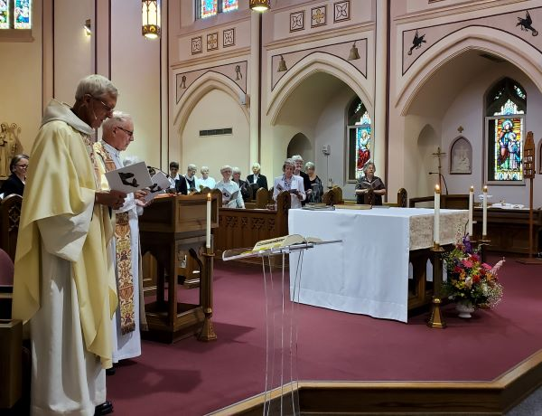 Abbot Marcus Voss, OSB, served as Principal Celebrant,with Msgr. Michael Sexton as concelebrant.