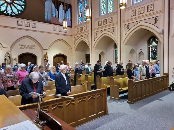 Attendance was limited due to the Covid-19 pandemic, but a wonderful representation of family, friends, Oblates, and Religious from around the diocese were in attendance.