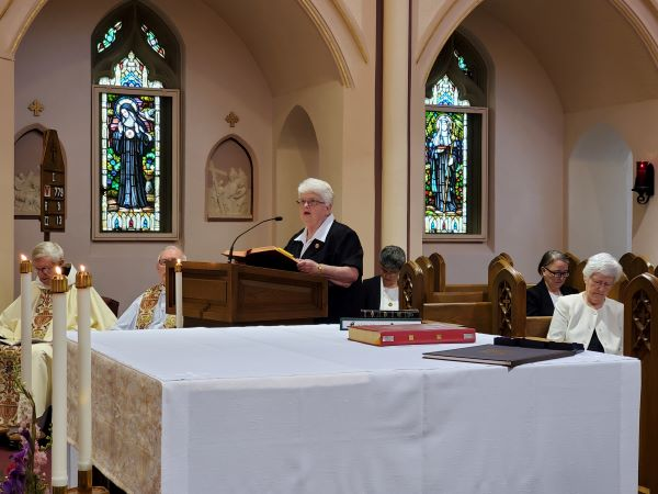 Sr. Janet Marie reads the 2nd Reading.