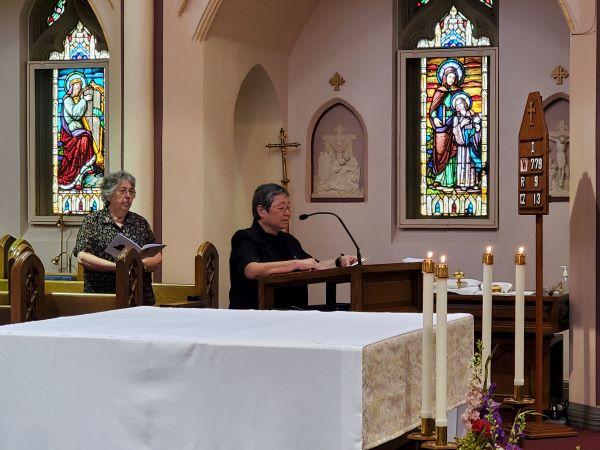Sr. Margaret Mary offers the Universal Prayer.