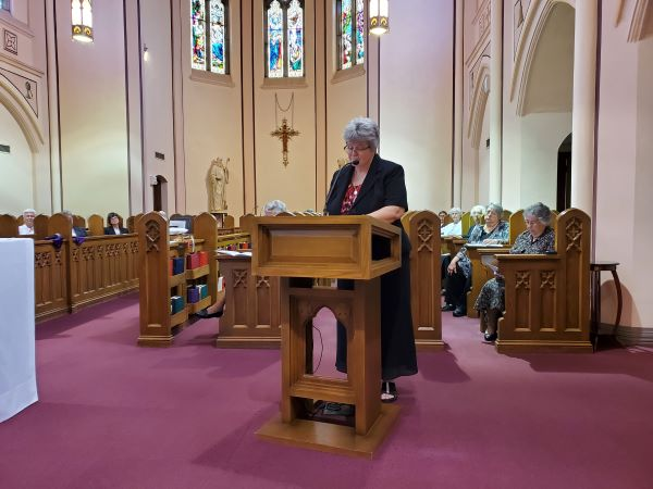Sr. Lynn Marie, President of the Federation of St. Scholastica, offered a reflection at the conclusion of Mass.
