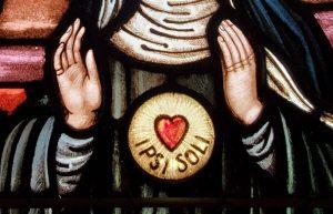 Detail from St. Gertrude Window in SHM Chapel