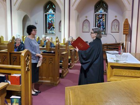 Margaret receives instruction from Sister Elisabeth