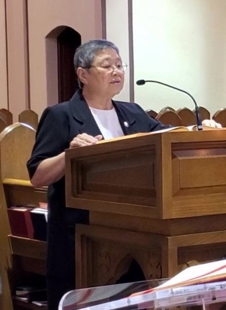 Sister Margaret Mary reads the Second Reading