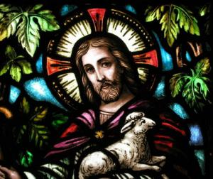 Good Shepherd window in Sacred Heart Chapel