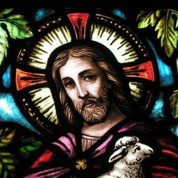 Good Shepherd window in chapel