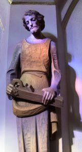 St. Joseph statue in Sacred Heart Monastery Chapel