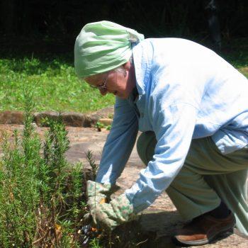 Sister Kathleen in the garden