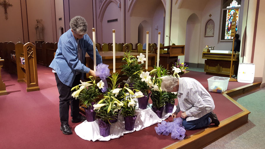 Preparations for the Easter Vigil