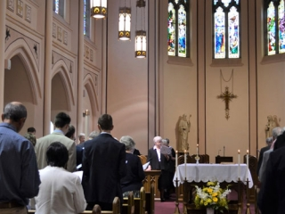 Guests are always welcome for the Sisters liturgies. Tour groups and retreat guests also enjoy visiting the chapel.