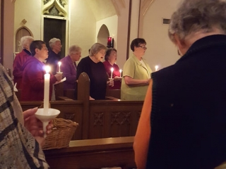 The Sisters gathered at Vigil in the chapel
