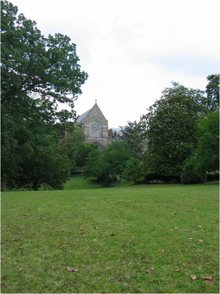 The towering chapel can be seen from many parts of the monastery grounds.