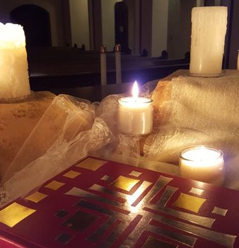 Special celebrations call for special decor, as with these candles representing the light of the saints on the Vigil of All Saints