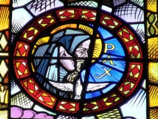 Benedictine medallion and Pax