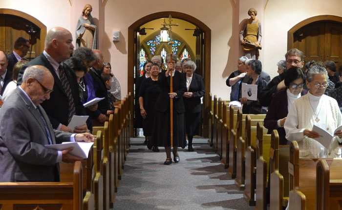 A procession into the chapel