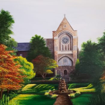 Painting of Chapel and Sunken Garden