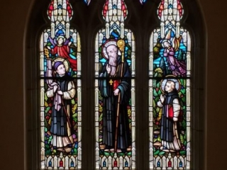 St. Benedict Window with Sts. Maurus and Placid