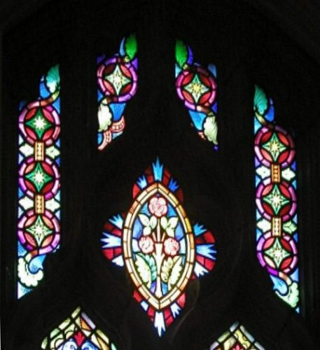 Upper section of one of the clerestory windows