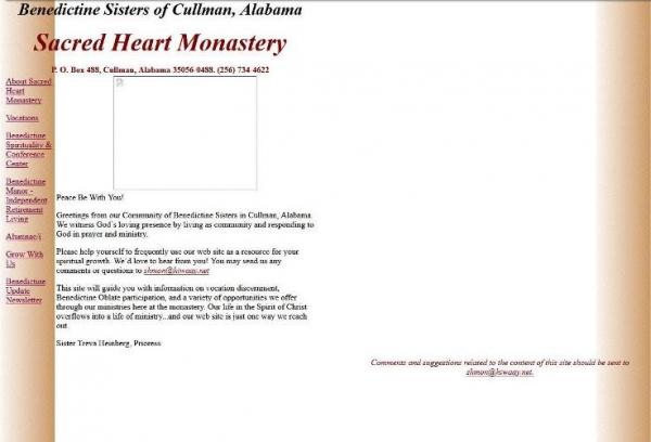 Screen shot of former website design