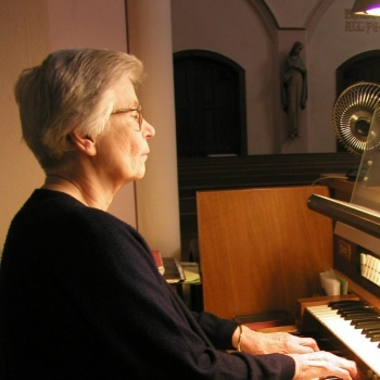 Sister Mary Vincent at the organ